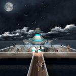 pagoda render notturna